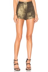 Bcbgmaxazria Camryn Short Metallic Gold