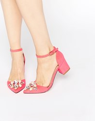 Asos Sparkle Pointed Heels Pink