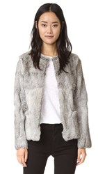 Suncoo Erwan Fur Jacket Heather Grey