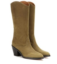 Chloe Suede Boots Green