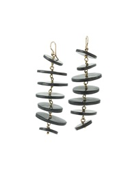 Ashley Pittman Dark Horn Tiered Disc Earrings