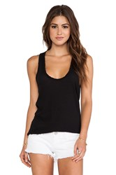 James Perse High Hauge Jersey Tank Black