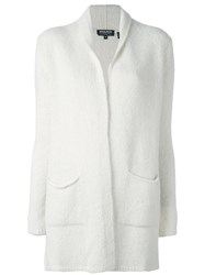 Woolrich Open Front Cardigan White