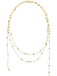 Luis Miguel Howard 18K Gold Star Lariat Necklace