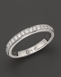 Monica Rich Kosann 18K White Gold Love Posey Ring With Diamonds