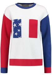 Etre Cecile Flag Knitted Sweatshirt White