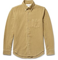 Our Legacy 1950 Lim Fit Bruhed Cotton Flannel Hirt Yellow