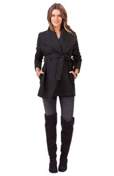 Isabella Oliver Women's 'Melrose' Wrap Maternity Coat Charcoal
