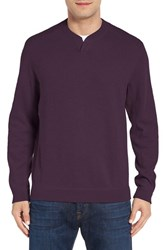 Tommy Bahama Men's 'New Flip Side Pro Abaco' Reversible Sweater Rum Berry Heather