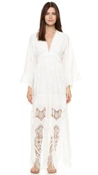 Anna Sui Victorian Embroidered Lace Dress White