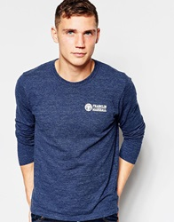 Franklin And Marshall Long Sleeve Crew Neck Top Bluemelange