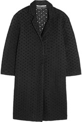 Roland Mouret Paddington Honeycomb Mesh Coat Black
