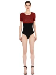Emiliano Rinaldi Two Tone Rib Knit Bodysuit