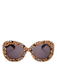 Moschino Oversized Oval Teddy Bear Sunglasses 57Mm Teddy Bear Gray Lens