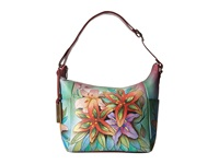 Anuschka 529 Lucious Lillies Handbags Blue