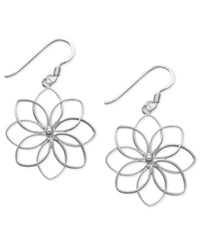 Unwritten Sterling Silver Earrings Open Flower Drop Earrings