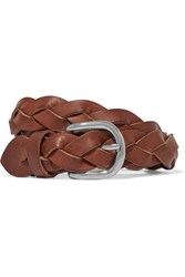 Etoile Isabel Marant Iabel Braided Leather Belt Brown