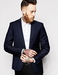 French Connection Suit Jacket Navy Sheen