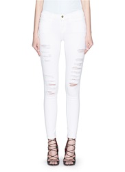 Frame Denim 'Le Color Rip' Skinny Jeans White