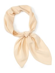 Chloe Silk Crepe De Chine Scarf Neutral