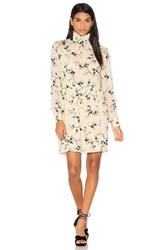 Ganni Marietta Georgette Dress Cream