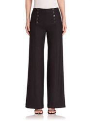 Nanette Lepore Solid Flared Trousers Black