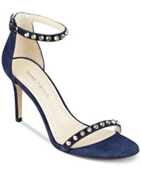 Marc Fisher Banner Studded Strappy Sandals Women's Shoes Dark Blue