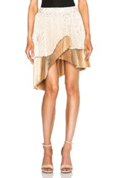 Zimmermann Tarot Fan Wrap Mini Skirt In Metallics