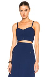 Carven Crop Top In Blue