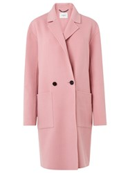 Lk Bennett L.K. Eden Double Faced Wool Coat Bardot Pink