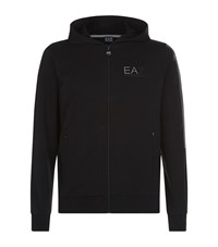 Armani Ea7 Full Zip Logo Hoodie Male Black