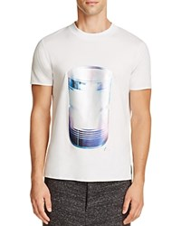 Y 3 Metallic Can Graphic Tee Crystal White
