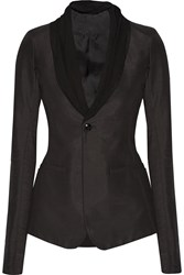 Rick Owens Cotton Blend Sateen Blazer Black