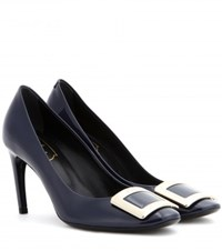 Roger Vivier Belle De Nuit Patent Leather Pumps Blue