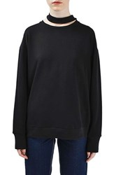 Topshop Women's Boutique Choker Sweatshirt