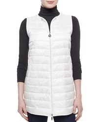Moncler Stripe Quilted Long Vest White