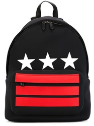 Givenchy Stars And Stripes Printed Backpack Black