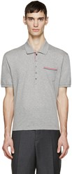 Thom Browne Grey Cotton Piqua Polo