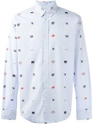 Soulland 'Vyl' Printed Shirt Blue
