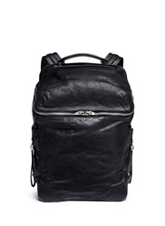 Alexander Wang 'Wallie' Waxy Paper Leather Backpack Black