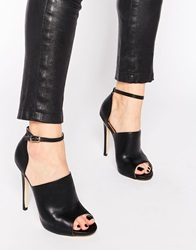 Truffle Collection Rita Mule Ankle Strap Heeled Shoes Blackpu