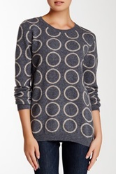 Philosophy Cashmere Polka Dot Intarsia Cashmere Sweater Gray