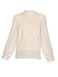 Dolce And Gabbana Lace And Silk Blend Blouse