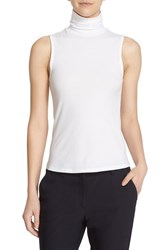 Theory Women's 'Wendel' Sleeveless Turtleneck Top White