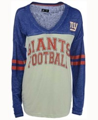 G3 Sports Women's New York Giants Field Position Long Sleeve T Shirt Royalblue White