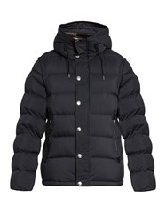 Burberry Detachable Sleeves Quilted Down Hooded Coat Navy