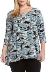 Plus Size Women's Karen Kane Print High Low Tunic Top