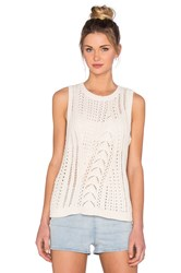 Leo And Sage Cable Knit Vest Pullover Ivory