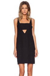 Shakuhachi Twisted Deep V Dress Black