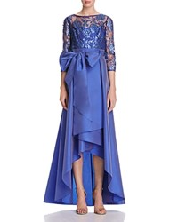 Adrianna Papell Lace High Low Gown Perri